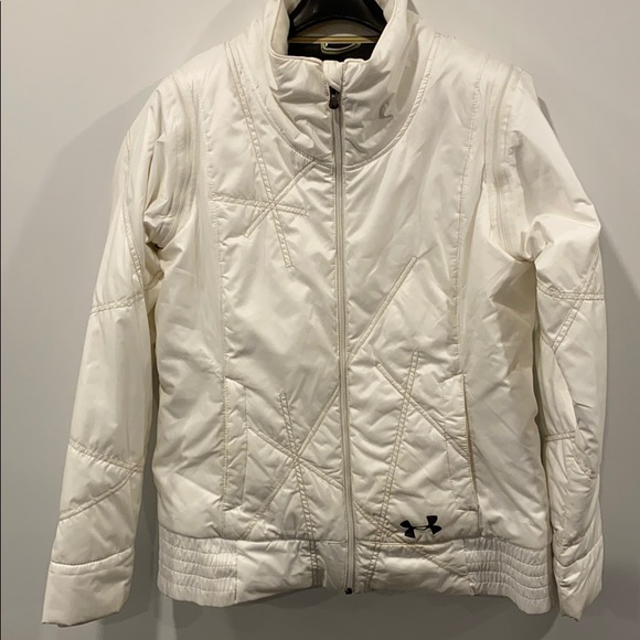 Under armour women's white coat - size L
